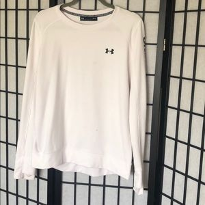 Large underarmour pullover with finger slits